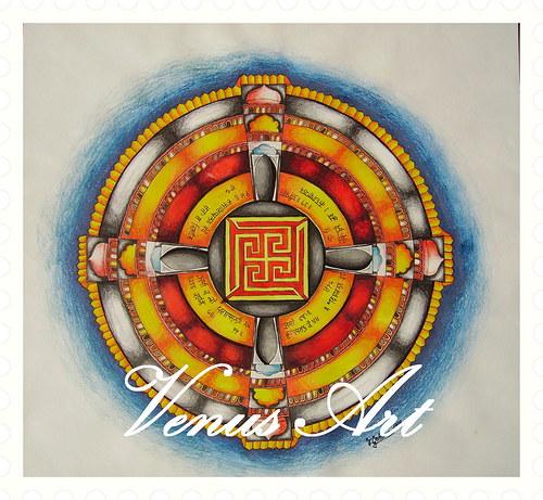 Indická Mandala - Vesmír