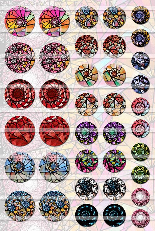Vitráže - Barvy vizí (Motivy)
