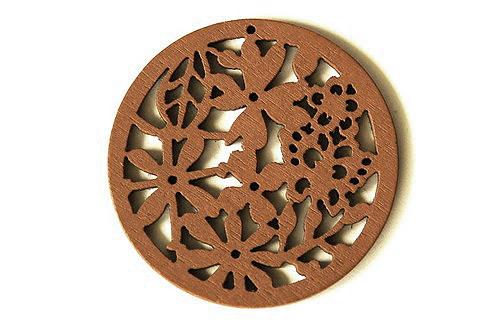 dřevěná kolečka- světle hnědá