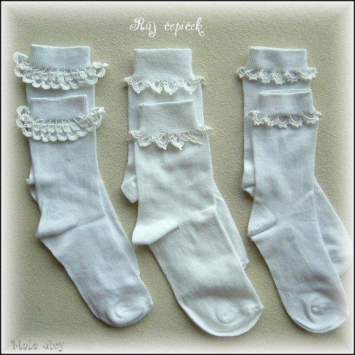 Ponožky s háčkovanými okraji