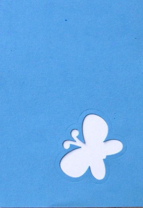 Stránka s motýlkem na šířku - barva podle přání