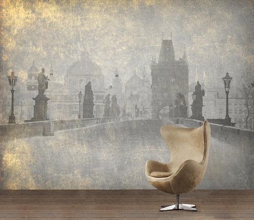 Luxusní tapeta ,,Vintage style - Charles Bridge