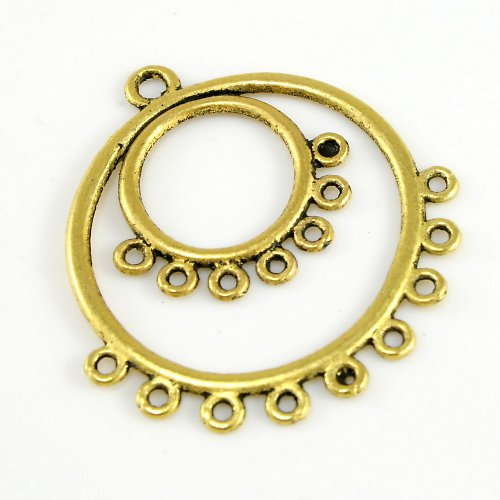 Ramínko - dva kruhy, zlatá barva, 2ks, výprodej