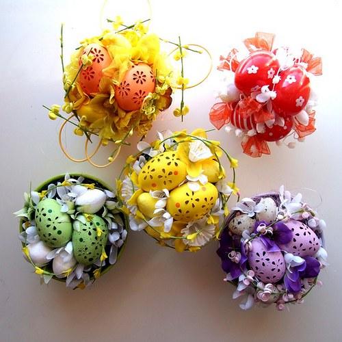 Velikonoční dekorace - fialová