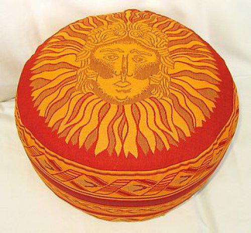 Taburetka červená Slunce, špaldové slupky, 16 cm