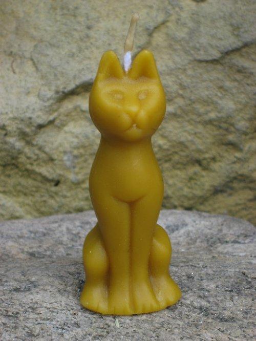 Svíčka kočka Egypt 100% včelí vosk