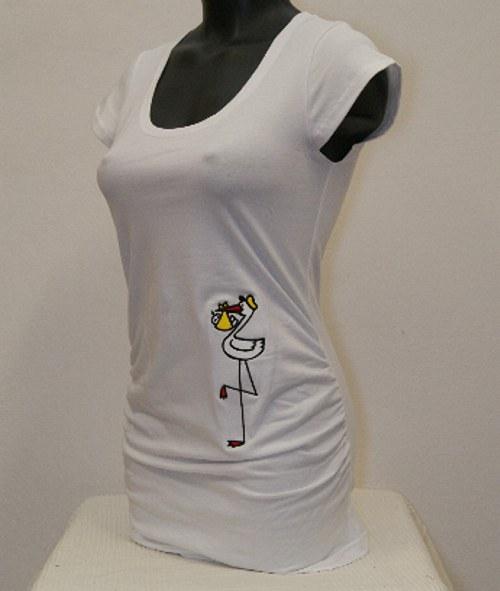 Těhotenské triko Čáp