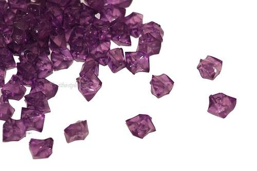 Fialové krystalky, 50ks