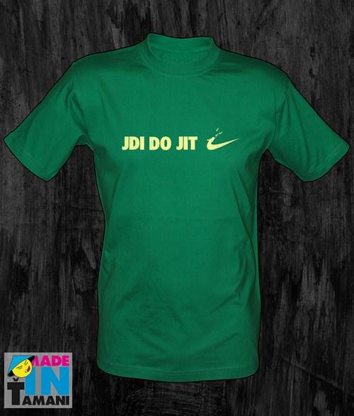 Pánské zelené tričko Jdi dojit 02