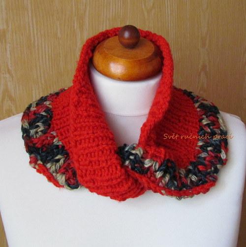 Červenám se -  pletený nákrčník
