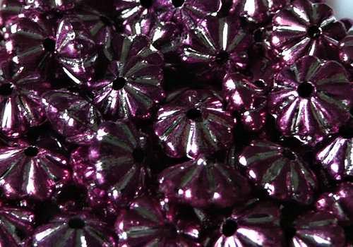 Plastová rondelka 6 x 4 mm - růžová / 10 ks