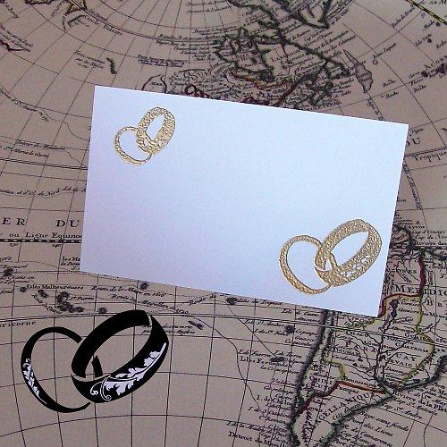 Razítko  svatební prstýnky větší