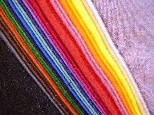 Sada větších filců, 25 barev, 30x20 cm