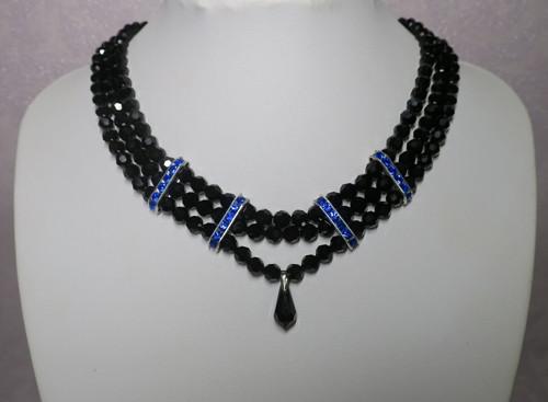 Dark-náhrdelník Preciosa+Swarovski