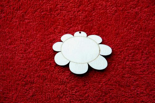 2D výřez přívěsek květina v.4x5,2cm