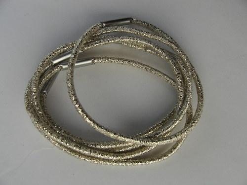 Gumička do vlasů, zlatá 0,2 cm