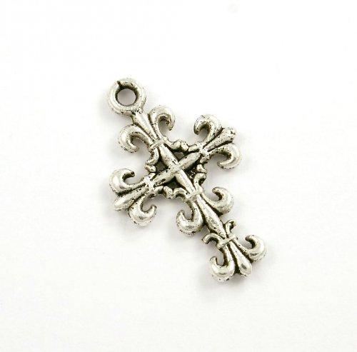 Přívěsek - ozdobný křížek, 2 ks,