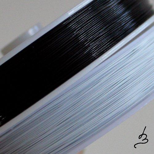 Ocelové lanko černé 0,45