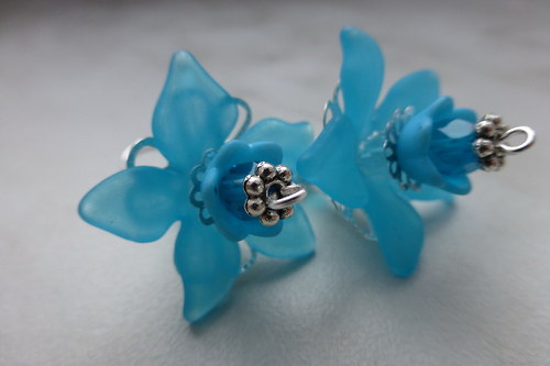 Náušnice - modré tanečnice