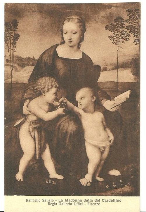 Umělecká pohlednice Raffaello Sanzio
