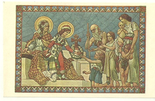 Pohlednice Vlastenecké Svatý Václav