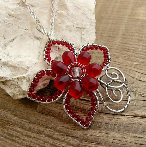 Červená orchidej