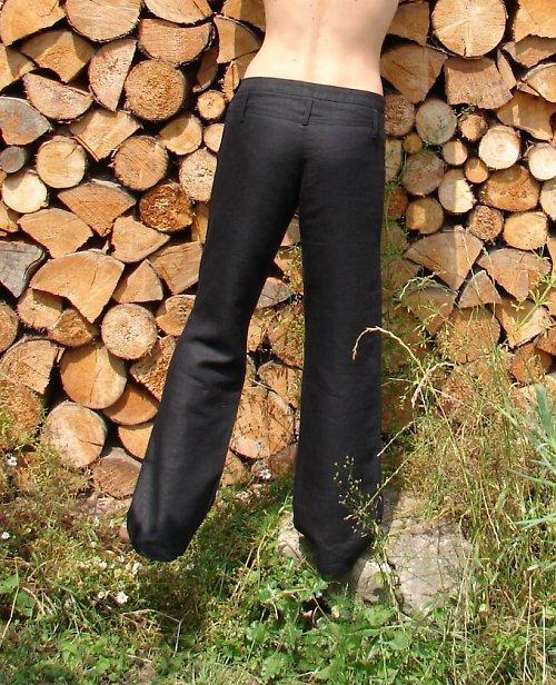 Lněné kalhoty BESI skvělé do ulic i na ples