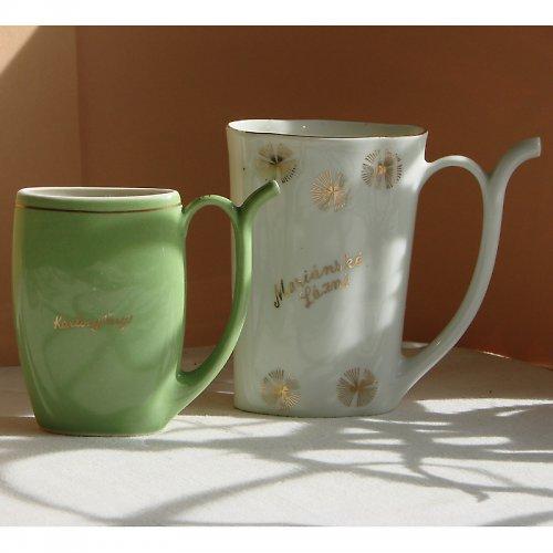Zelený lázeňský pohárek
