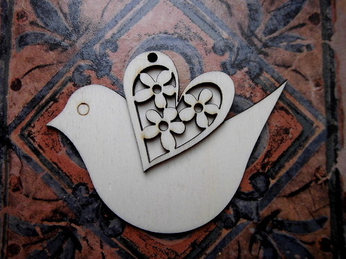 3D  výřez ptáček - v. 8,7x12,1cm