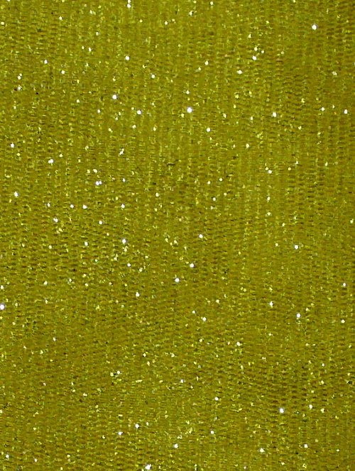 Pro dekoraci - třpytivý tyl - žlutý