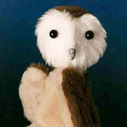 Sova pálená - autorská hračka