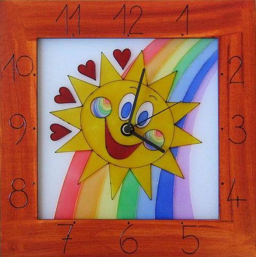 Sluníčko 2 *Cestou duhy - hodiny v rámu 34cm
