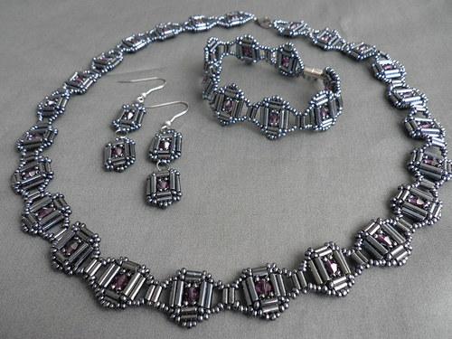 náhrdelník + náramek + náušnice S6
