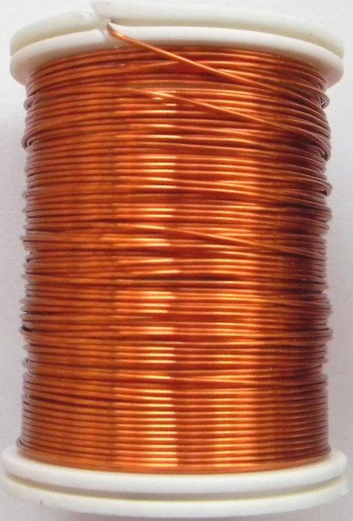 Měděný lakovaný drát 0,6 mm oranžový