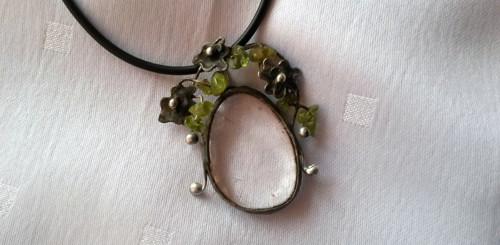 krištál + olivín