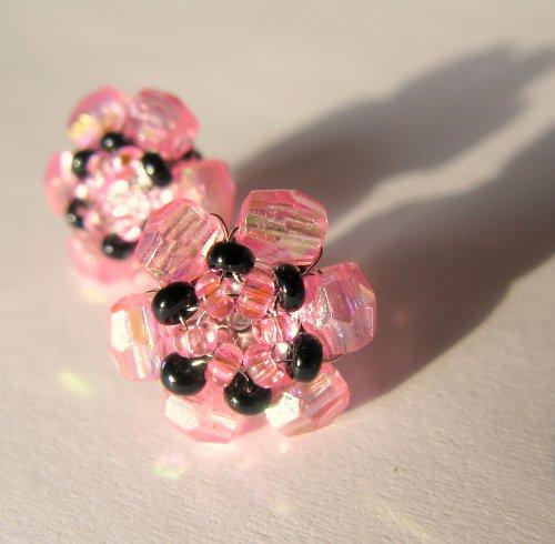 Náušničky růžové