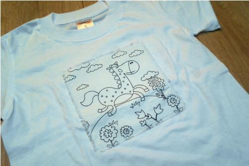 Tričko omalovánky - koník