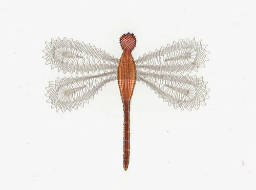 Paličkovaná dekorace - vážka