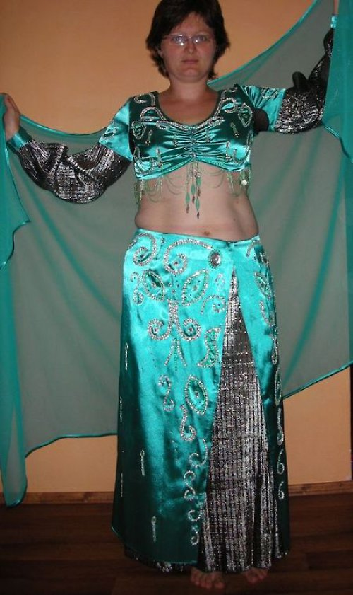 Orientální kostým na břišní tanec kombinační