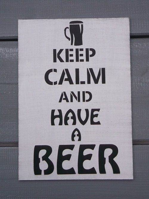 Cedule KEEP CALM and have a beer