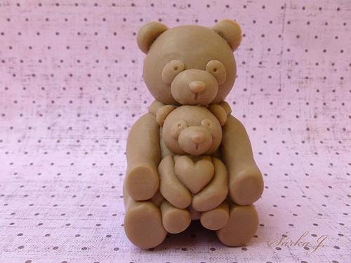 silikonová forma na mýdlo - medvědí maminka