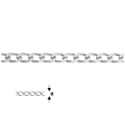 Řetízkovina Pancer stříbro Ag 925/1000 , 10 cm