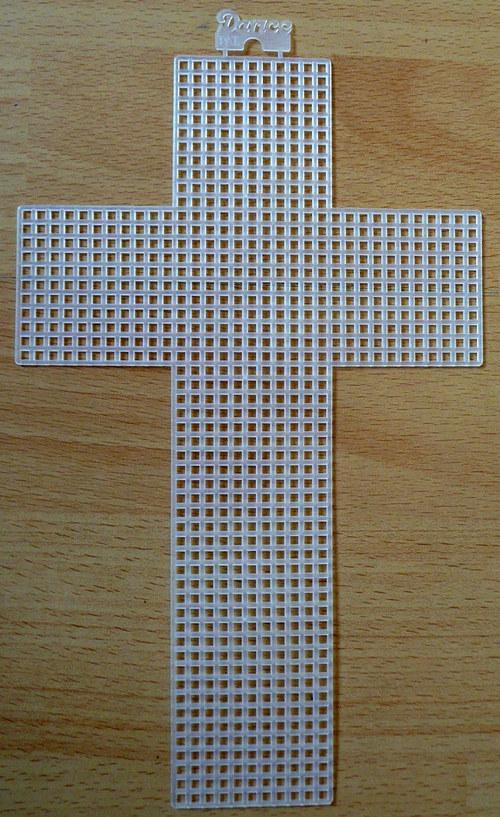 Plastová kanava - kříž 13x21cm