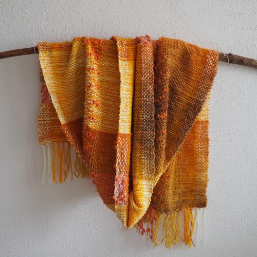 Žluťásek  - ručně  tkaný pléd/maxišála