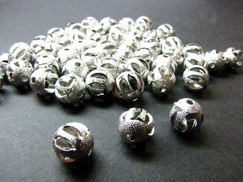 Filigránové kuličky s výřezy 10 mm, balení 4 ks