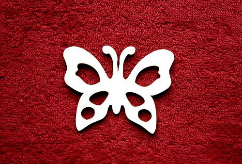 2D výřez motýl -v.5x6,3cm
