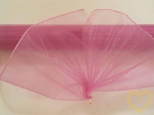 Organza růžová, šíře 38 cm