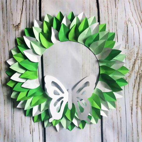 Zelenobílá dekorace