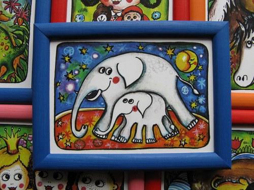 Slůně se slonicí
