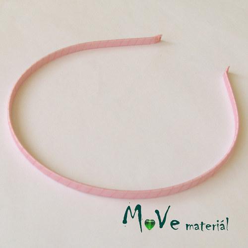 Čelenka jednoduchá potažená sv. růžová/5mm
